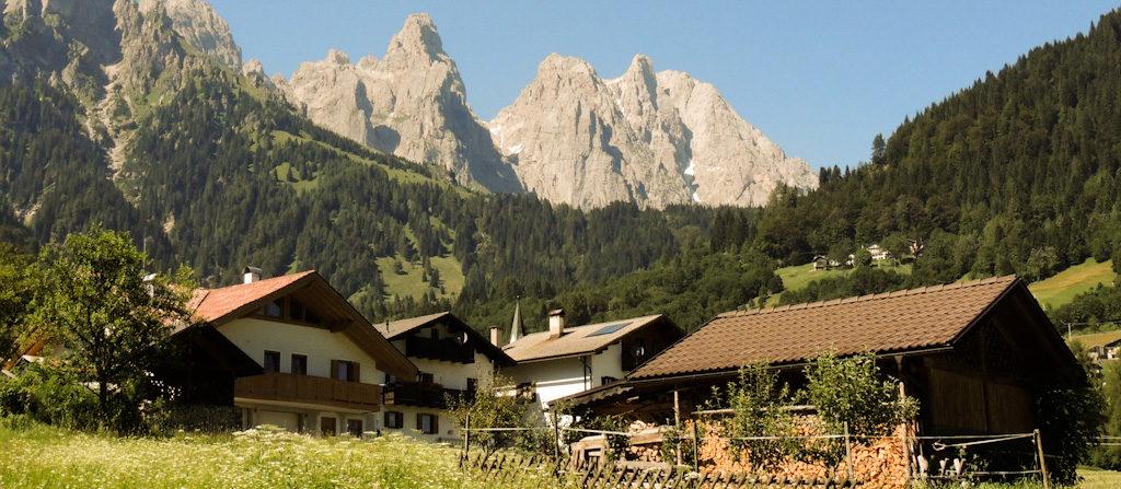 Panorama di Mis a Sagron Mis - Dolomiti